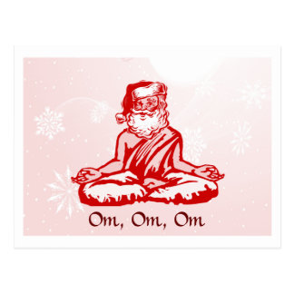 Buddhist Santa Christmas Card