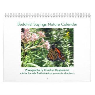 Buddhist Sayings Nature Calender Calendar