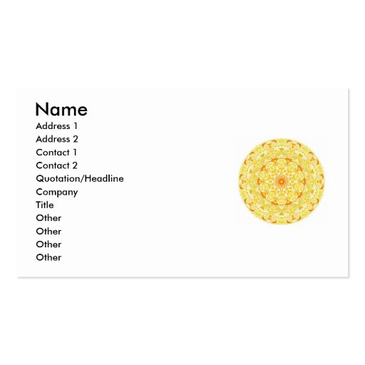 Buddhist Spiritual Earth Wheel Business Cards