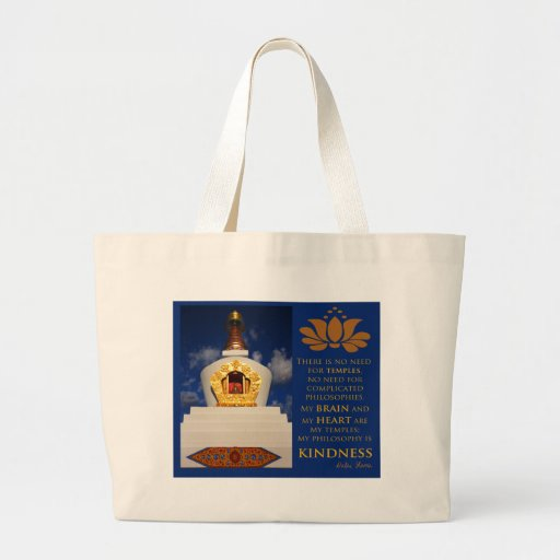 Buddhist Stupa Large Tote Bag