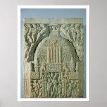 Buddhist stupa, Nagarjunakonda (limestone) Print