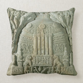 Buddhist stupa, Nagarjunakonda (limestone) Throw Pillow