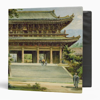 Buddhist temple at Kyoto, Japan 3 Ring Binder