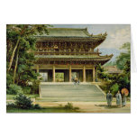 Buddhist temple at Kyoto, Japan Card