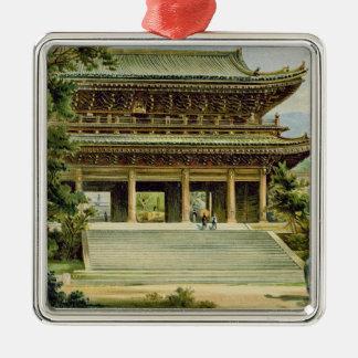 Buddhist temple at Kyoto, Japan Metal Ornament