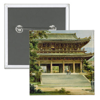 Buddhist temple at Kyoto, Japan Pinback Button