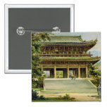 Buddhist temple at Kyoto, Japan Pinback Buttons