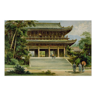 Buddhist temple at Kyoto, Japan Poster