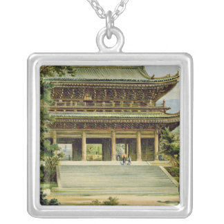Buddhist temple at Kyoto, Japan Square Pendant Necklace