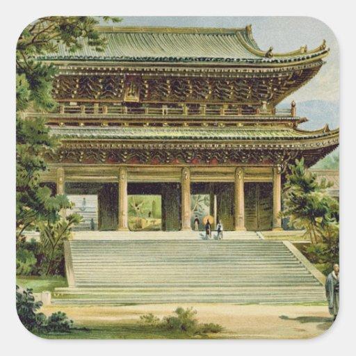Buddhist temple at Kyoto, Japan Square Sticker