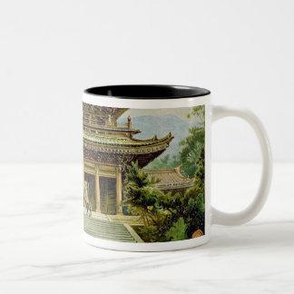 Buddhist temple at Kyoto, Japan Two-Tone Coffee Mug