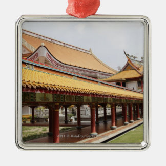 Buddhist temple grounds christmas tree ornament