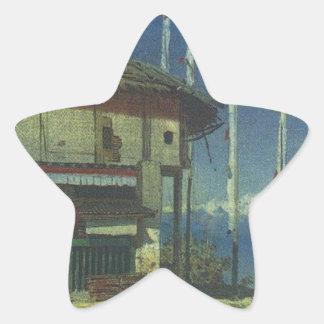 Buddhist temple in Darjeeling. Sikkim by Vasily Ve Star Sticker