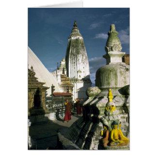 Buddhist Temple in Kathmandu Nepal Card