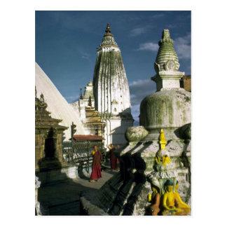 Buddhist Temple in Kathmandu, Nepal Postcard