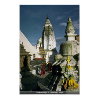 Buddhist Temple in Kathmandu Nepal Print
