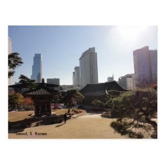 Buddhist Temple in Seoul, S. Korea Postcard