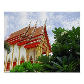 Buddhist temple poster