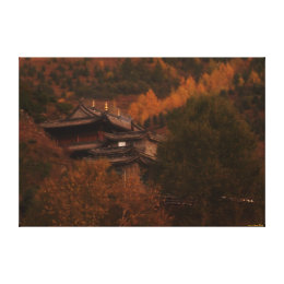 Buddhist Temple Wrapped Canvas