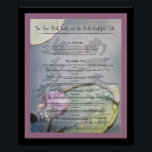 """Buddhist Truths Poster<br><div class=""""desc"""">This is a post I made for my living room. It give the four noble truths and the eightfold path,  it features a piece of caligraphy and is set on the background of a waterlily pond.</div>"""