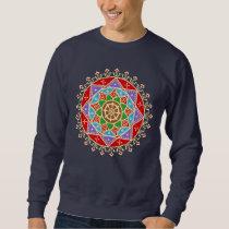 Buddhist Wheel of Dharma Mandala Pattern Sweatshirt