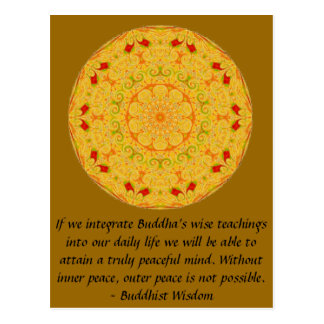 Buddhist Wisdom SAYING -  teaching Postcard