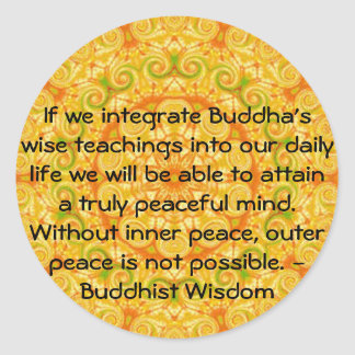 Buddhist Wisdom SAYING -  teaching Stickers