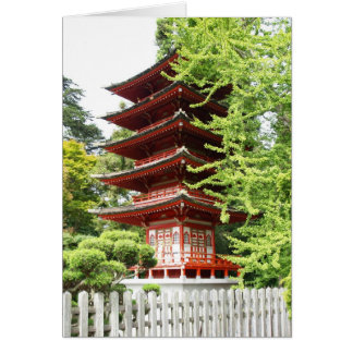 Buddhist Wooden Pagoda Greeting Cards