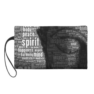 Buddhist Words of Wisdom Wristlet Purse
