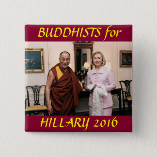 Buddhists for Hillary Clinton Pinback Button