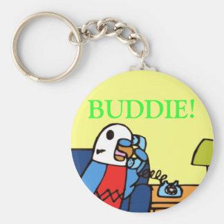 Buddie llama a su miembro del Congreso Llavero Redondo Tipo Pin