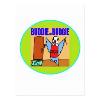 Buddie the Budgie Postcard