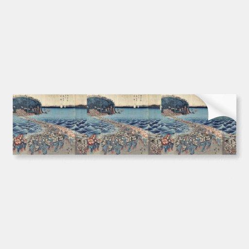 Buddihist image exhibition by Ando,Hiroshige Car Bumper Sticker