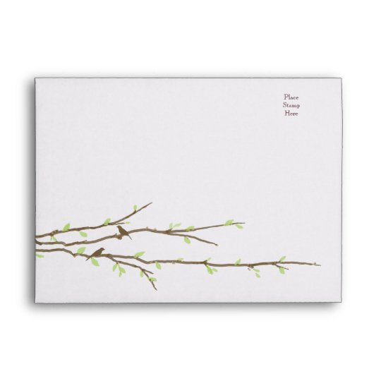 Budding Branches with Birds Envelope