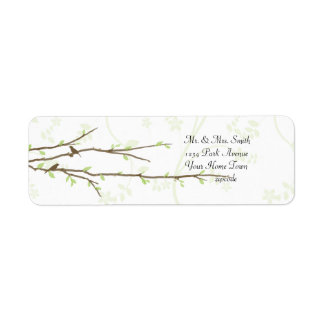 Budding Branches with Birds Mailing Label Return Address Label
