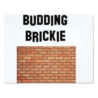 budding brikkie card