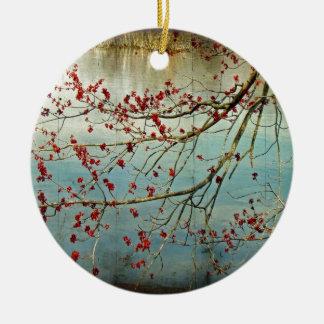 Budding Out Ceramic Ornament