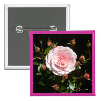Budding Pink Rose Buds Pins