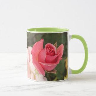 Budding Pink Rose Mug