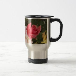 Budding Pink Rose Travel Mug