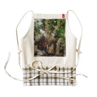 Budding plant zazzle HEART apron
