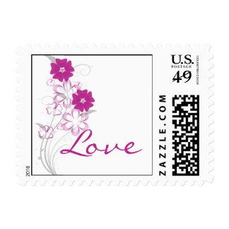 Budding Romance in Fuchsia Postage Stamp