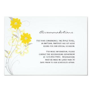 Budding Romance in Yellow Wedding Insert Card