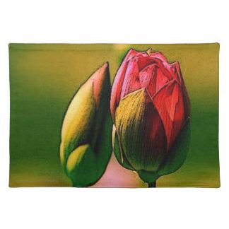 Budding Rose Cloth Placemat