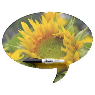Budding Sunflower Dry Erase Whiteboards