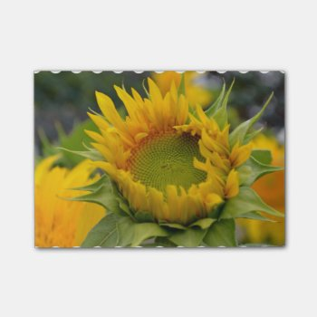 Budding Sunflower Post-it Notes by PerennialGardens at Zazzle