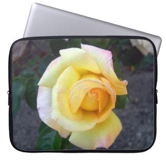 Budding Yellow Rose Laptop Sleeve