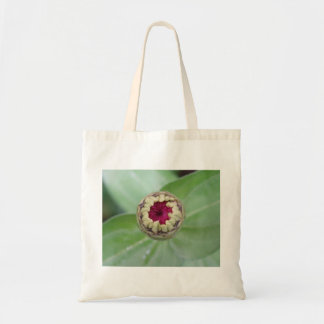 Budding Zinnia Tote Bag