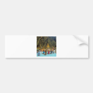 Buddist Cave Temple Bumper Sticker