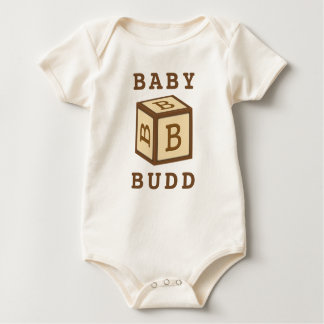 Budd''s Name on American Apparel Baby Bodysuit